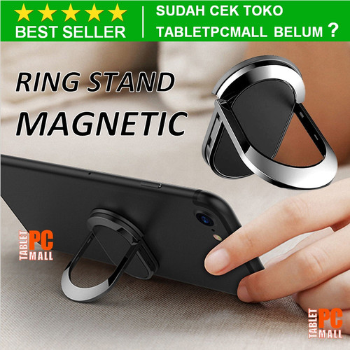 Foto Produk Ring Stand Hp Magnetic 360 Rotation Metal Phone Holder Universal iRing dari Tablet PC Mall