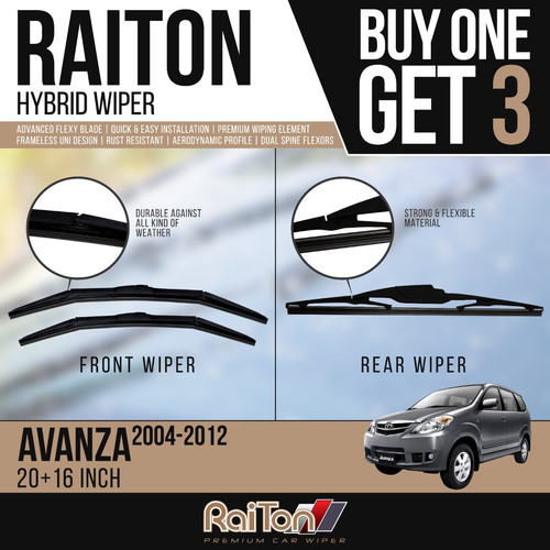 Foto Produk Raiton Wiper Hybrid BUY ONE GET 3 FOR Toyota Avanza 2004-2012 dari Raiton