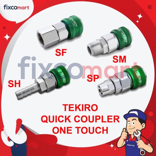 Foto Produk Tekiro Quick Coupler One Touch (SH) 20 SH / Alat Konektor Kompressor - ONE 20 SH dari FIXCOMART