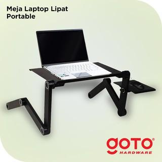 Foto Produk Meja Laptop Portable Aluminium With Cooler Big Fan Mousepad dari GOTO Hardware