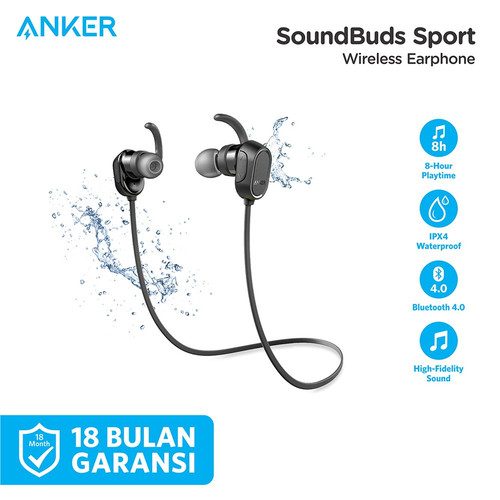 Foto Produk Anker SoundBuds Sport Bluetooth Earphone A3233 dari Soundcore by Anker
