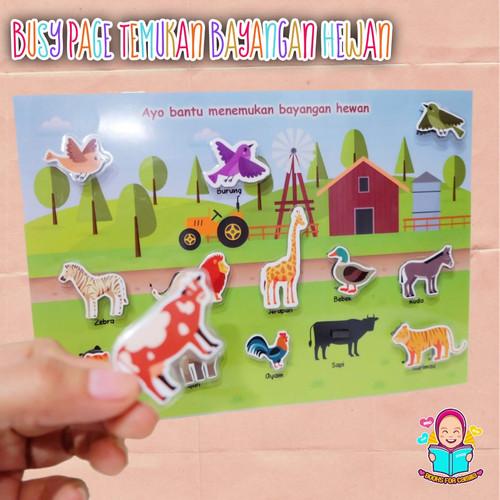 Foto Produk Mainan Edukasi Anak Busy Page Bayangan Hewan Binatang Buku Aktivitas B dari Books For Camilla