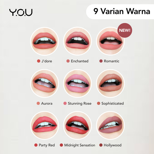 Foto Produk YOU Luscious Lip Cream [ All Day matte Finish] - Aurora dari YOU Makeups Official
