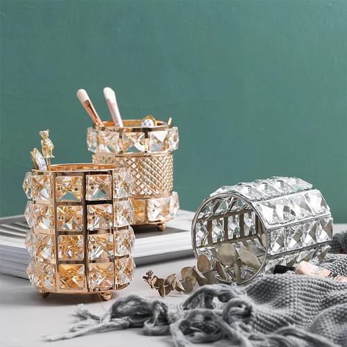 Foto Produk Crystal Storage Holder - for makeup brush, cosmetic dll - Gold dari gratohome