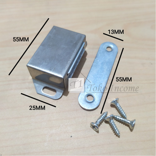 Foto Produk Magnet Kotak Pintu Lemari Large / Door Stoper Stainless Steel dari Toko Income