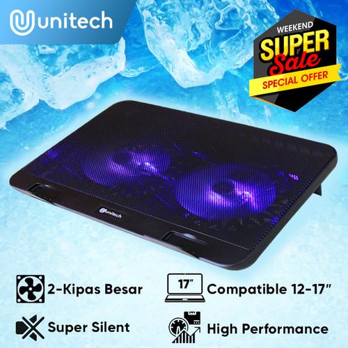 Foto Produk Notebook Cooler Coolingpad Kipas Pendingin Laptop Notebook Unitech N66 dari Unitech Official