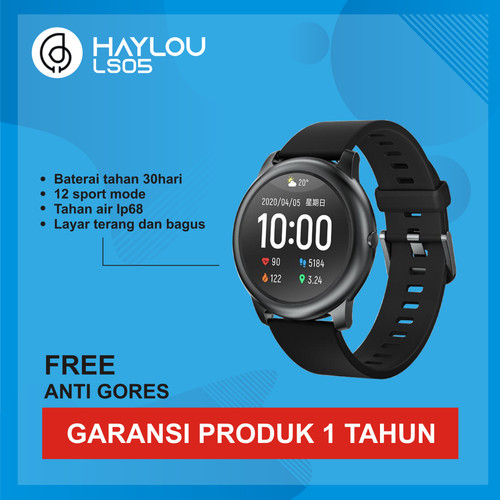 Foto Produk Haylou LS05 Solar TFT Touch Screen Smartwatch IP68 English Version dari Kardel Shop