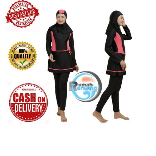 Foto Produk Baju Renang Muslim Dewasa (RMD 07) - RMD 07 PINK, M dari Rumah Renang