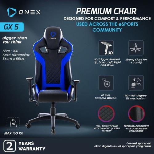 Foto Produk ONEX GX5 Premium Quality Gaming Chair - Navy dari manekistore