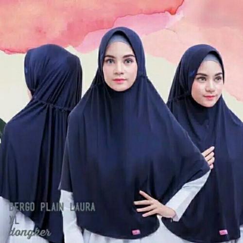 Foto Produk KERUDUNG SERUT XL JERSY PREMIUM/BERGO INSTAN JUMBO PET/JILBAB SERUT - Putih dari Khanras Hijab Store