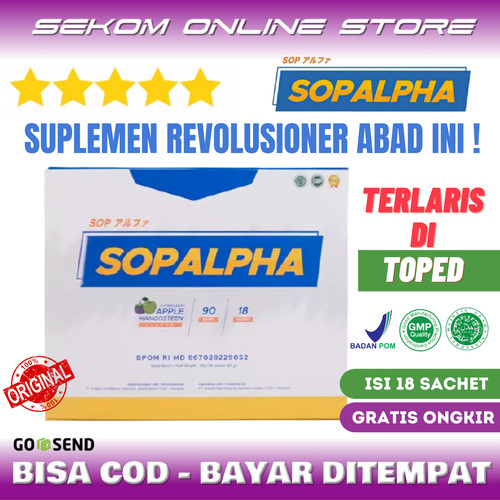 Foto Produk SOPALPHA Original Immune Booster Vitamin 1 Box Isi 18 Sachets dari SEKOM ONLINE STORE