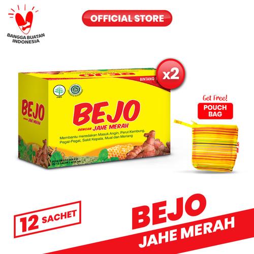 Foto Produk Bejo Jahe Merah Sachet 2 Pack (24 Sachet) FREE Pouch dari Bintang Toedjoe Official