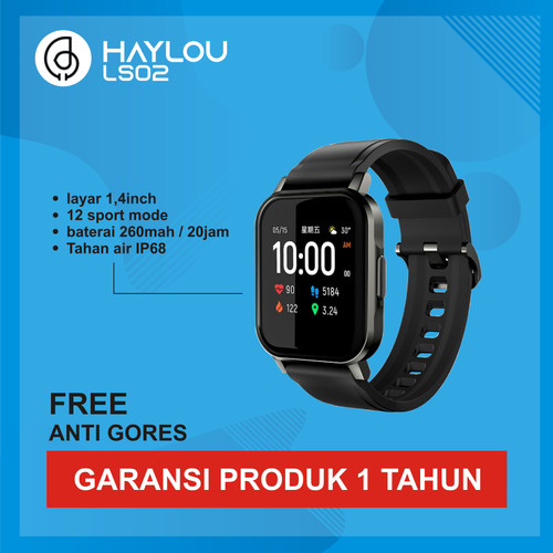 Foto Produk Haylou Smartwatch LS02 1.4in LCD Color Screen IP68 Waterproof dari Kardel Shop