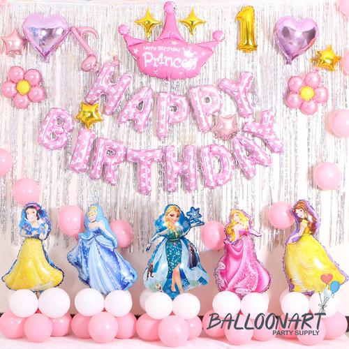 Foto Produk PRINCESS PREMIUM DEKORASI SET/BALON FOIL PRINCESS/DEKORASI ULANG TAHUN dari BalloonArt Party Supply