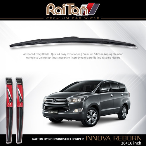 "Foto Produk Raiton Wiper Hybrid Sepasang Kaca Depan Mobil New Innova 24"" & 18"" dari Raiton"