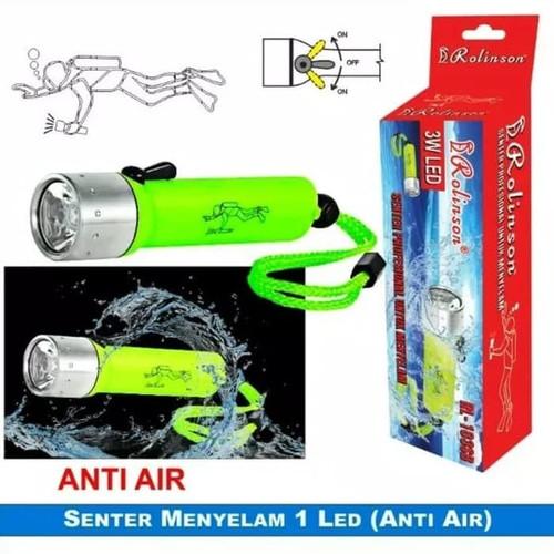Foto Produk Senter Selam Anti Air Diving Flash 3W LED Rolinson RL-103SB dari Tricom accesories