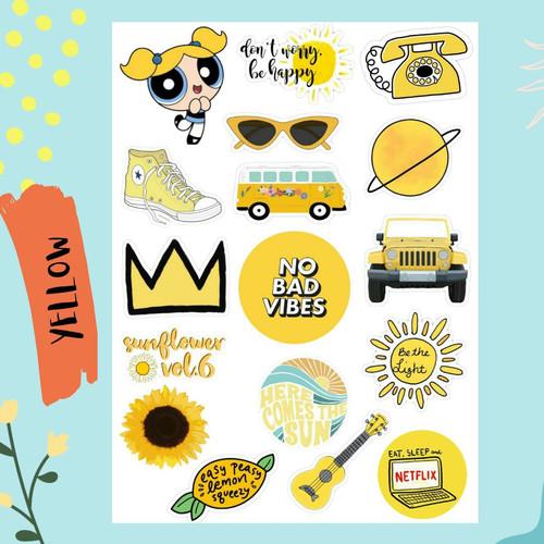 Jual Sticker Aesthetic Tumblr Yellow Case Hp Laptop S Kota Bekasi Lesliegoods Tokopedia