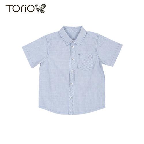 Foto Produk Torio Blue Stripe Shirt - Kemeja Anak Laki-laki - 3-4 tahun dari Torio