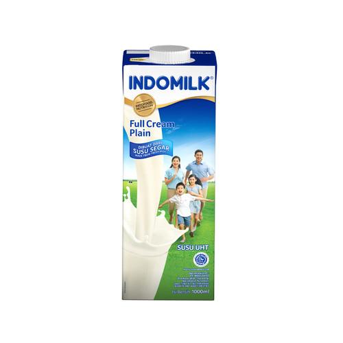 Foto Produk Susu UHT FC Indomilk Plain 1000 ml X 2 Pcs dari Indomilk Official Store