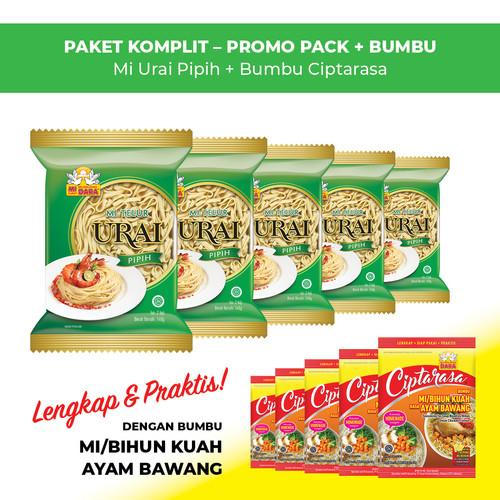 Foto Produk Mi Urai Pipih + Bumbu Ciptarasa Kuah Ayam Bawang (5 pcs) dari BURUNG DARA OFFICIAL