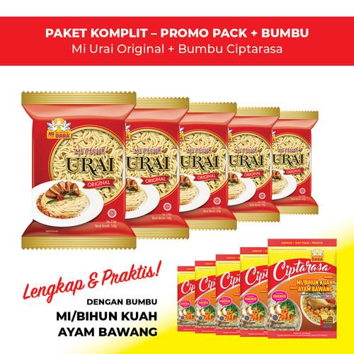 Foto Produk Mi Urai Original + Bumbu Ciptarasa Kuah Ayam Bawang (5 pcs) dari BURUNG DARA OFFICIAL