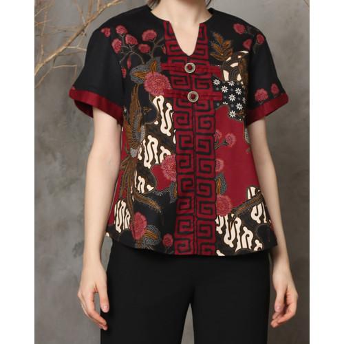 Foto Produk Nara - Xian Top / Atasan Batik Wanita - Standard dari Lustopia_Collection