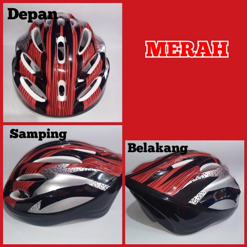 Foto Produk helm sepeda dewasa murah ringan dan nyaman dipakai - Merah dari microprinting