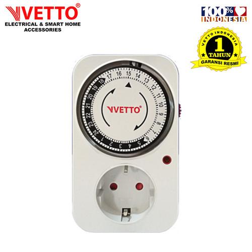 Foto Produk VETTO Stop Kontak Timer Analog - 24 Jam dari Vetto Smart Home