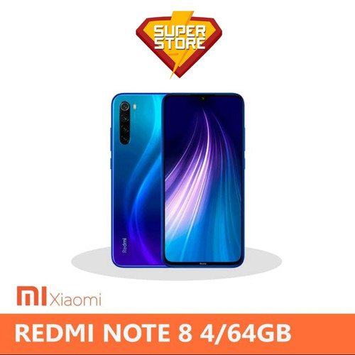 Foto Produk Xiaomi Redmi Note 8 Ram 4 Rom 64 (4/64) - Garansi Resmi - Hitam dari Super Store