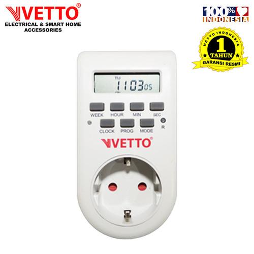 Foto Produk VETTO Stop Kontak Timer Digital Listrik - 1Minggu dari Vetto Smart Home