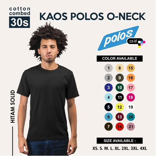 Foto Produk Tshirt / Kaos Polos Super Cotton 30s Unisex - S dari polos.co.id