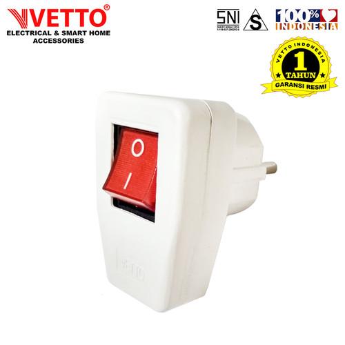 Foto Produk VETTO Steker Arde VS-228 + Saklar On/Off - SNI dari Vetto Smart Home