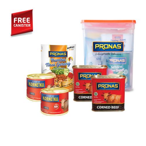 Foto Produk PRONAS Paket Kornet & Bumbu Nasi Goreng Bundling 5 pcs Free Canister dari Pronas Official Store