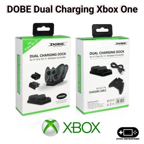 Foto Produk Dual Charging Dock Baterai Battery Stik Controller Xbox One dari Dimas Retro Game