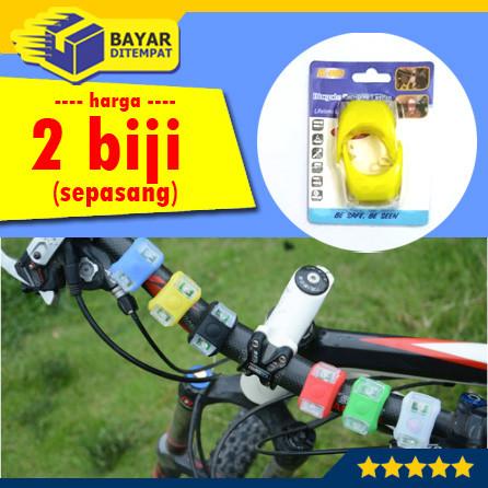 Foto Produk [2 Biji- Sepasang] Lampu Sepeda Gowes LED Strobo Depan Belakang dari Maju Grosir