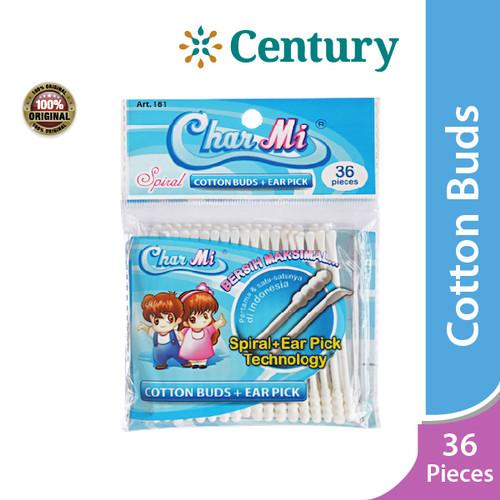 Foto Produk Charmi Cotton Buds Earpick 36 pcs -Art 181/ Pembersih Telinga dari CENTURY HEALTHCARE