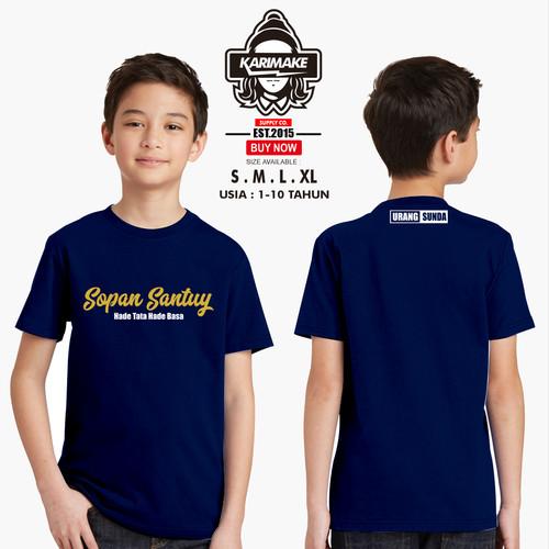 Foto Produk Kaos Baju Anak Urang Sunda Sopan Santuy Hade tata Kaos Distro - Karima dari karimakes