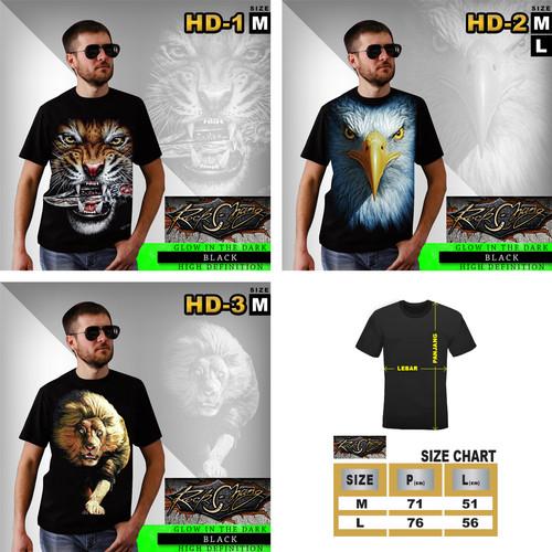 Foto Produk DISKON!! KAOS PRIA ROCK CHANG 4D HD GLOW IN THE DARK THAILAND ORI dari Rhymes Outlet