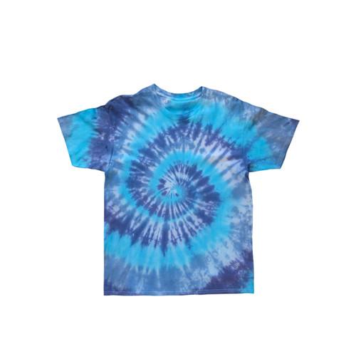 Foto Produk Kids Tie Dye T-shirt Spiral Blue - S dari Flo's Tie Dye Shop