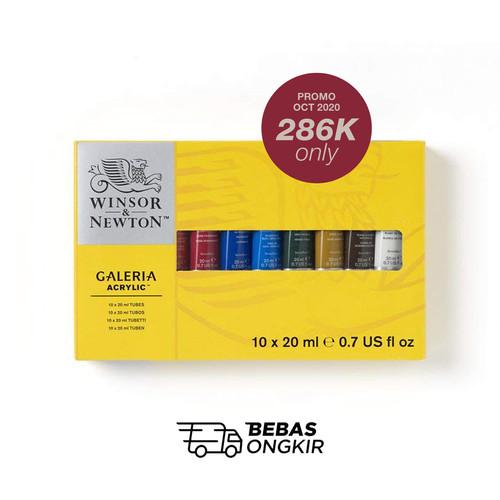 Foto Produk Winsor & Newton GALERIA Acrylic Paint 10 x 20ml Tube Set dari Dreamshop
