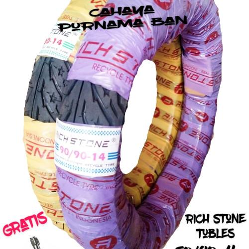 Foto Produk PAKET 2 BAN LUAR RICHSTONE TUBLES + PENTIL UK 80/90-14 & 90/90-14 dari Cahaya purnama ban