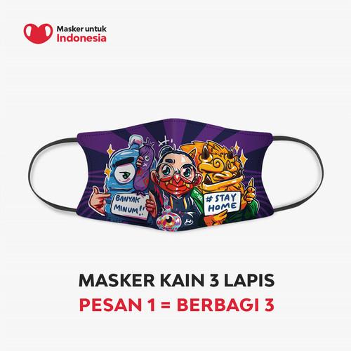 Foto Produk Masker untuk Indonesia x Kemas Acil - Kain Scuba Full Printing dari Masker untuk Indonesia