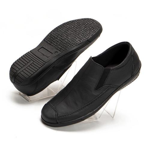 Foto Produk Sepatu Pria Casual Slip On Formal Hitam Kulit Asli Handmade MCL01 - Hitam, 40 dari FORDZA Shop