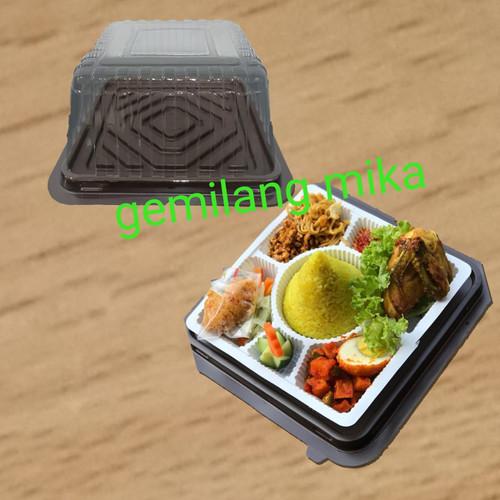 Foto Produk mika tumpeng mini kotak + alas sekat 7 nasi dari gemilang mika