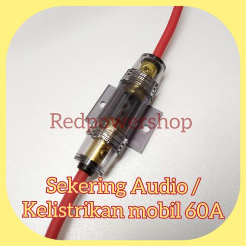 Foto Produk sekering audio 60A kelistrikan mobil pasang di aki dari redpowershop