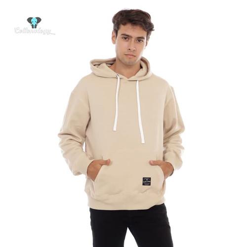 Foto Produk Sweater Hoodie Pria Cottonology Polos Krem - L dari Cottonology Indonesia