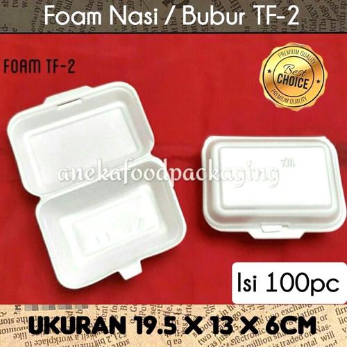 Foto Produk GOJEK ONLY-Styrofoam/sterofoam/gabus nasi/kotak makan TF-2 polos dari anekafoodpackaging