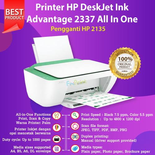 Foto Produk Printer HP 2335 2336 2337 Print, Scan, Copy Pengganti Printer 2135 New - Lavender 2335 dari FixPrint Indonesia