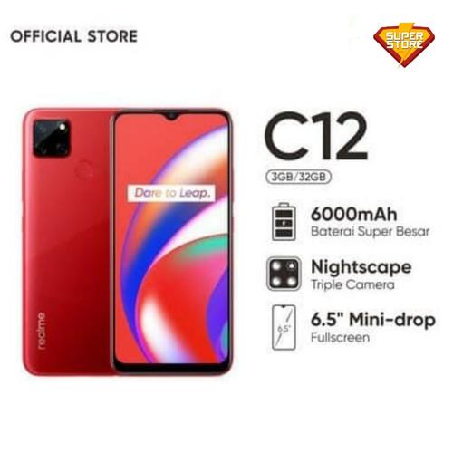 Foto Produk Realme C12 3/32 Ram 3 Rom 32 GB - Garansi Resmi - Merah dari Super Store