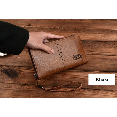 Foto Produk W111 Dompet Kulit Clutch Pria Wanita Jeep Buluo Exclusive Wallet - khaki dari EnnWen Online Store